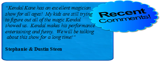 Mansfield Entertainment magic show for birthday party kids