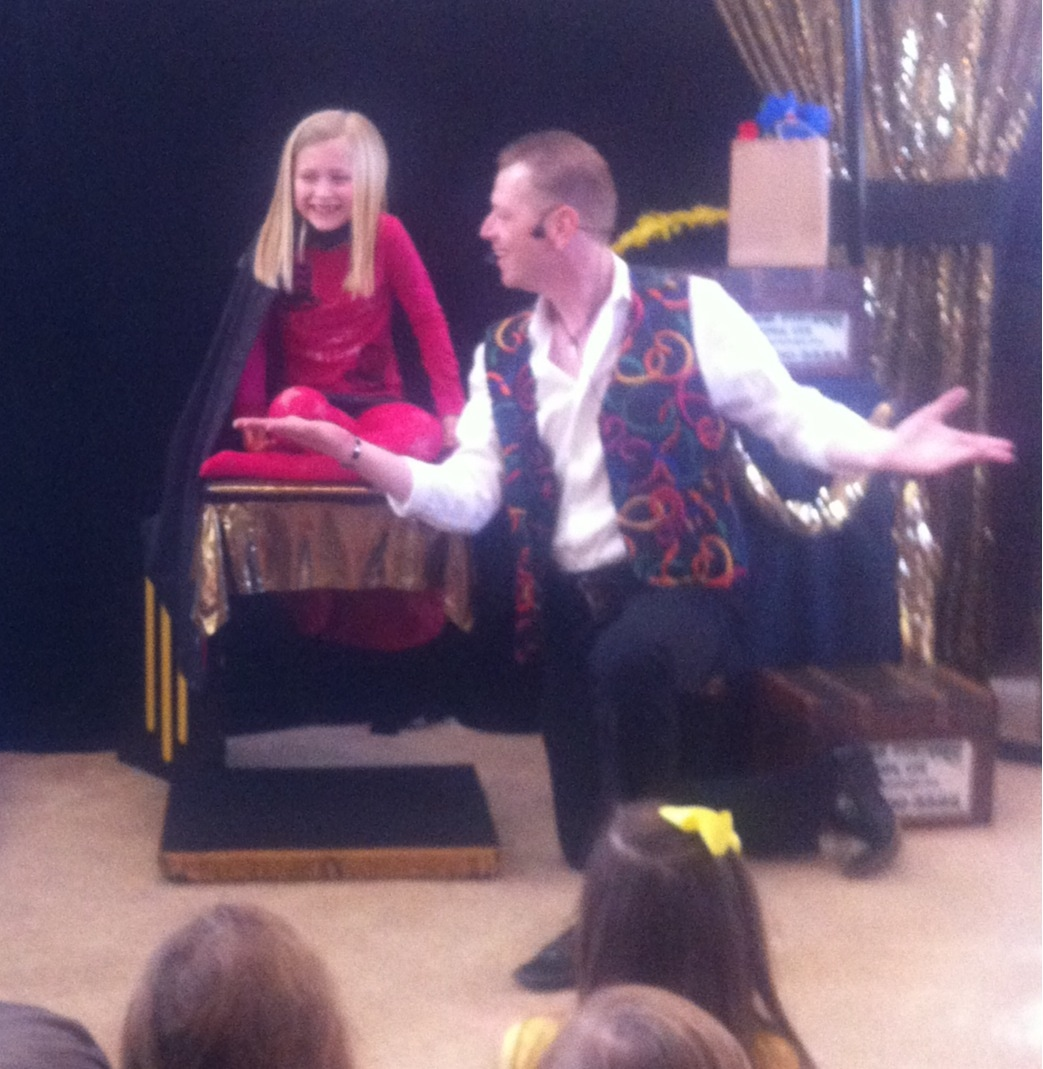 Everyone has fun and laughter with comedy magician in Quinlan