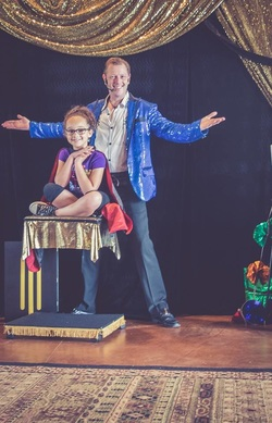 Everyone has fun and laughter with comedy magician in Aubrey