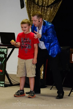 Great business for kids presented by Aubrey kids magician Kendal Kane makes your child's birthday unforgettable