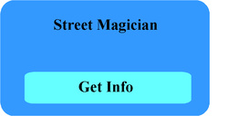 Street magic shows and street magician performer