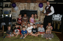 Unique magician parties for kids help make birthday party memories