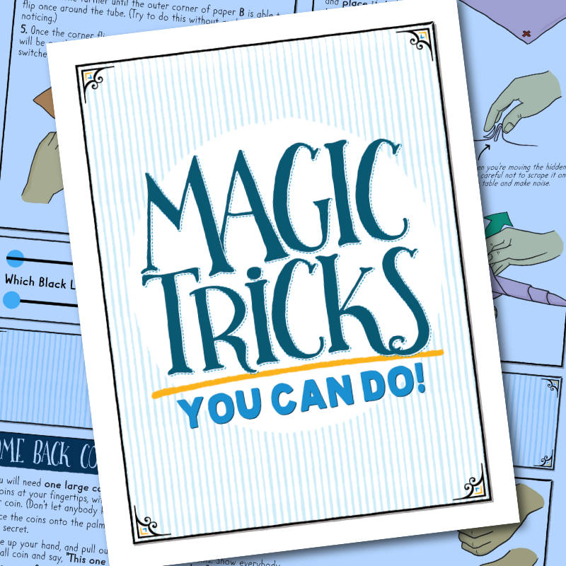Grapevine birthday party magician gives away free magic booklets instead of balloon animals
