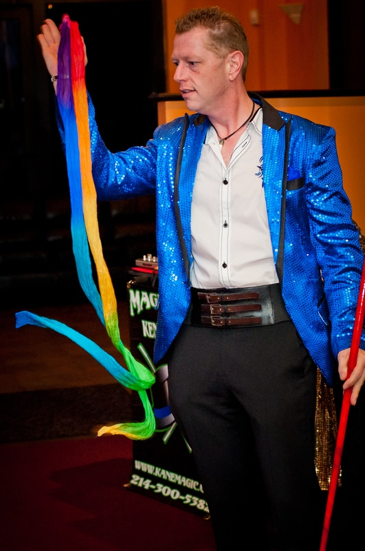 Stage show magicians and Cabaret Magician Kendal Kane perform for magic events and Parlor Magicians